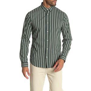 Vince • Deep Forest Column Stripe Sport Shirt